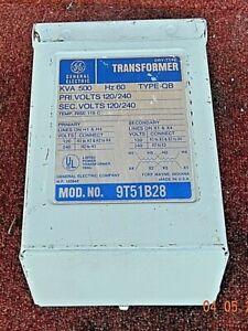 GE TRANSFORMER .500 KVA SINGLE PHASE MOD9T51B28 TYPE QB