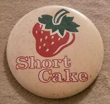 Vintage Strawberry Shortcake Pinback Button Collectible