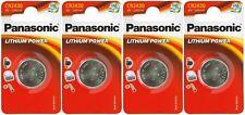 4x Panasonic CR2430-C1 Litihium 3V Coin Cell CR2430 Batteries (4 Batteries)