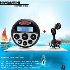 Waterproof Audio Receiver  Marine Gauge Audio Mp3  Bluetooth Stereo Outdoor Car