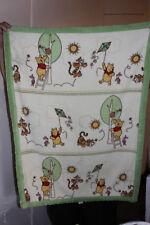 Disney Baby Winnie The Pooh Fleece Blanket Tigger Piglet Kite Bee Green Trim