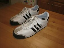 Adidas Shoes Athletic Casual Sports Sneakers Samoa White Leather Men's 10-1/2 A9