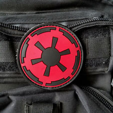 3D PVC STAR WARS IMPERIAL GALACTIC EMPIRE LOGO MILITARY MORALE RUBBER HOOK PATCH