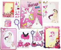 Scrap Book Set Fairy Design Picture Album Creative Stickers Frame Kids Party Bag