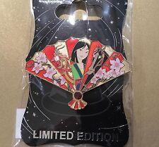 Disney WDI Mulan Mushy Cri Kee Khan Horse Floral Fan pin LE 300