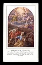"""santino-holy card""""S.LUCIA V.M.-ROMA"""