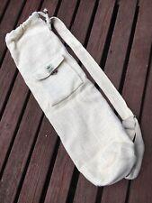 YOGA MAT CARRIER BAG 100% HEMP WITH ADJUSTABLE SHOULDER STRAP, TAYLOR MADE