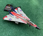 1990 New Bright F-14 Tomcat Corded Remote Control Jet Works NO BATTERY COVER