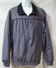 Black Mountain Summit Gray Windbreaker Jacket Size XL Zipper Pockets Lined