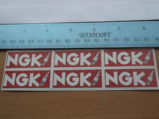 NGK  Spark Plug Car STICKERS  Race Racing Motorcycle  Rally X6