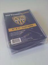 SafTgard Top Load Rigid Protector 5x7 Postcard Photo Package Of 25 NIP