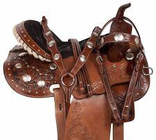 14 15 16 WESTERN GAITED HORSE LEATHER PLEASURE TRAIL HORSE LEATHER SADDLE TACK