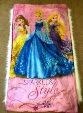 Disney Princess Rapunzel Belle Cinderella Girls Pink Sleeping Bag