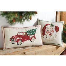 Mud Pie H0 Christmas Tree Farm Vintage Holiday Tapestry Pillow - 41600009 Choose