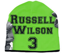 reputable site 2be15 b18ee Seattle Seahawks Russell Wilson Beanie (NEW) NFL Hat Toboggan Stretch