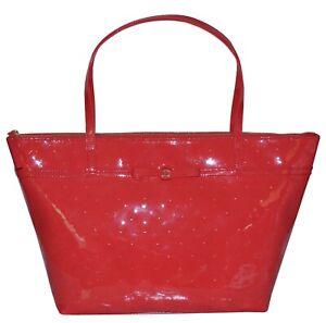 NWT Kate Spade Sophie Large Tote Bag Womens Handbag Purse Polka Dot Chili Red