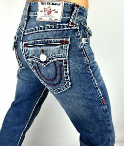 True Religion Men's Ricky Relaxed Straight Super T Jeans -101094