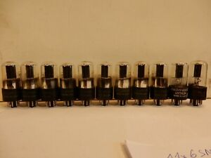 11x 6SN7 Sylvania Identicall tubes propably NOS