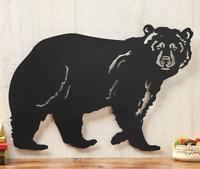 Black Bear Metal Wall Art Rustic Lodge Cabin Woodland Decor Indoor/Outdoor