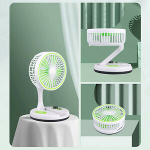 7'' USB Desk Table Fan Small Portable Foldable Personal Cooler With LED Light