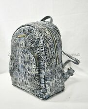 Brahmin Croco Leather Glacier Melbourne Mini Dartmouth Blue Backpack