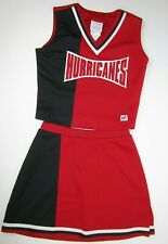 """NEW HURRICANES Cheerleader Uniform Outfit Cheer Costume Youth L 32"""" Top Elastic"""