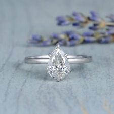 2.00 ct Pear Diamond Sterling 925 Silver Ring VVS1/D New Ring