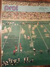 Detroit Free Press Nov 14, 1971 PRO!  NFL TV MAGAZINE Football Supplement