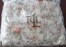 1 New Ralph Lauren Cole Brook Tan Green Red Floral Twin Bedskirt