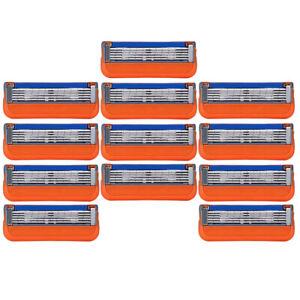 12PCS Blades 5 Razors For Gillette Fusion Power ProGlide Shaving Replacement