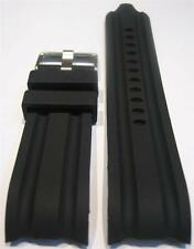 24mm Black Replacement SiliconE Band Fit/Nautica Watch BFD 100 N15564G N15566G