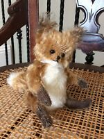 RARE 7.5 In. Mohair Fredrich Fox By Caleigh Goodrich Of Poco Critters O Beru