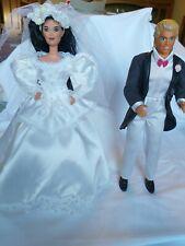 Vintage 1980s Barbie Bride's Gown & Veil Ken's Tuxedo