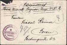 GERMANY, 1917. Feldpost Cover Marine Schiffspost, Torpedo Squadron