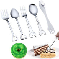 Stainless Steel Wrench Spade Spoon Fork Silverware Cutlery For Dessert Kids Gift