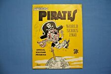 1960 World Series Program New York Yankees @ Pittsburgh Pirates unscored gd-vg