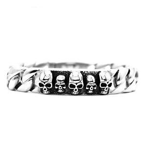 Edelstahl Skull Armband Edelstahl Totenkopf Armband Rocker, Biker