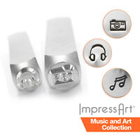 ImpressArt Music and Art Metal Stamping, Metal Stamps, 6mm Size