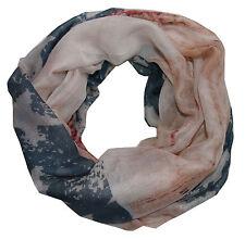 feiner ★ AMERIKA ★ USA batik Sterne Loop Schal ★ Stern blau creme rot