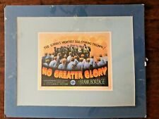 Movie Poster No Greater Glory Matted Print Wall Decor Media Theater Room Blue