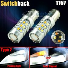 2X High Power Chip 1157 Dual Color Type 2 Switchback LED Turn Signal Light Bulbs