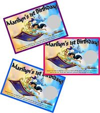 DISNEY ALADDIN SCRATCH OFF PARTY GAMES CARDS BIRTHDAY FAVORS SCRATCH OFFS GAME