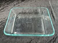 Pyrex 7211 R   6 Cups Clear Casserole Baking Dish Rectangle Ovenware Made In USA