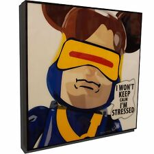 Cyclops Be@rBrick Medicom KurBrick Art Framed Canvas Poster Print Gloss Painting