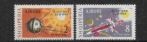 """ALBANIA - 1964 - RICCIONE """"SPACE"""" EXHIBITION PAIR - MM SG 840/841- CAT £39"""
