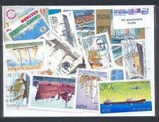 100 verschiedene Briefmarken Schiffe , Segelschiffe , Dampfer , Boote