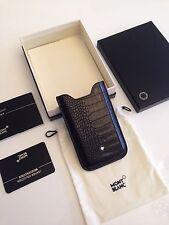 Montblanc *MST* iPhone Kroko Leder Hülle Case SmartPhone Holder Mocca NP:200€586
