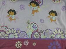 Dora the Explorer Twin Flat Sheet and Boots Cotton Rich Lavender Burgundy