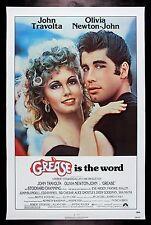 GREASE * CineMasterpieces 1SH ORIGINAL ROLLED UNUSED NM C9 MOVIE POSTER 1978