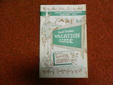Vintage 1962 South Dakota Vacation Guide Booklet